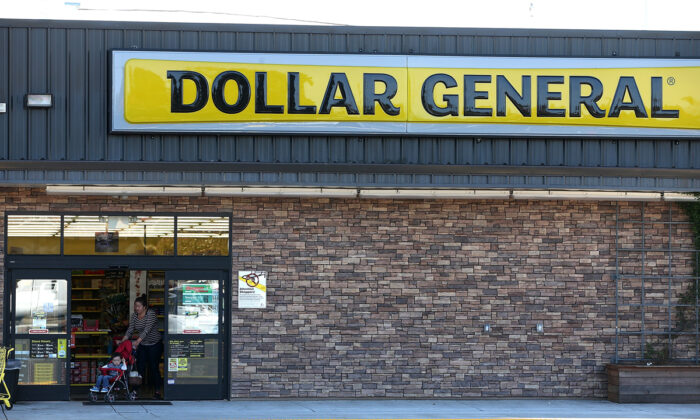 A customer leaves a Dollar General store in Vallejo, Calif., on March 12, 2015.  Justin Sullivan/Getty Images