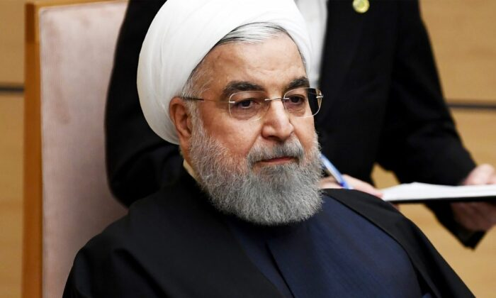 Iranian President Hassan Rouhani in Tokyo on Dec. 20, 2019. (Charly Triballeau/Pool Photo via AP)