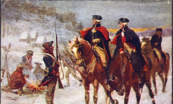 """George Washington and Lafayette at Valley Forge,"" by John Ward Dunsmore, 1907. (Public domain)"