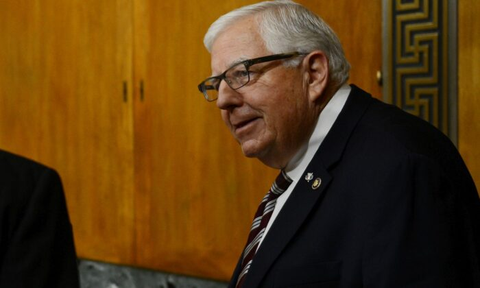 Chairman of the Senate Committee on the Budget, Mike Enzi (R-Wyo.), in a 2018 photo. (Astrid Riecken/Getty Images)