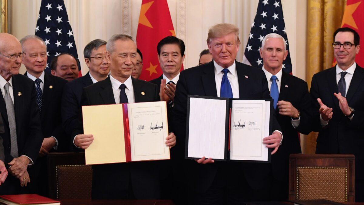 Liu He and US President Donald Trump