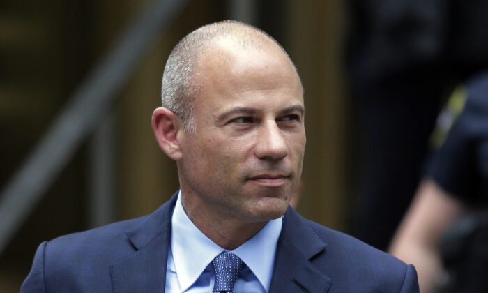 California attorney Michael Avenatti leaves a courthouse following a hearing in New York City, on May 28, 2019. (Seth Wenig/ AP Photo)
