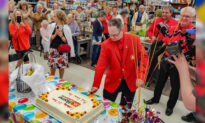 Home Hardware Employee With Down Syndrome Celebrates 25th-Work-Anniversary Party With the Whole Town