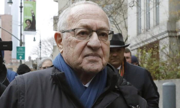 Attorney Alan Dershowitz leaves federal court in New York City on Dec. 2, 2019. (Richard Drew/AP Photo)