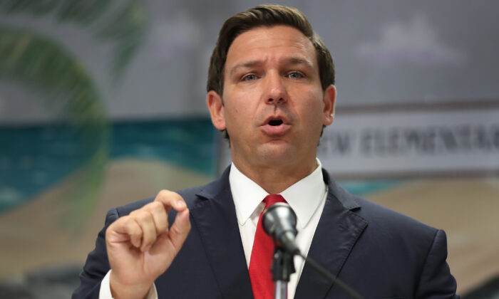 Florida Gov. Ron DeSantis on October 07, 2019 in Fort Lauderdale, Florida.  (Joe Raedle/Getty Images)