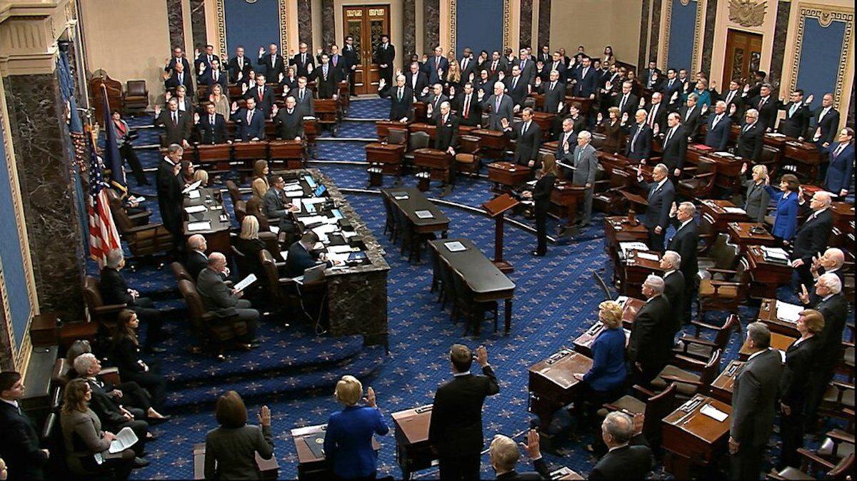 Senators sworn in