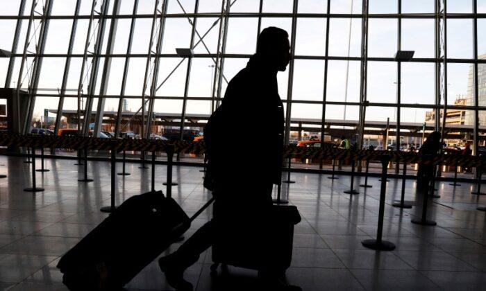 International travelers arrive at John F. Kennedy international airport in New York City, N.Y., on Feb. 4, 2017. (Brendan McDermid/Reuters)