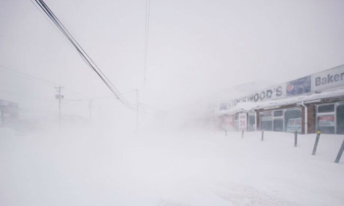 A snowy street is pictured in St. John's, Newfoundland and Labrador, Canada on Jan. 17, 2020. (Zach Bonnell/Reuters)
