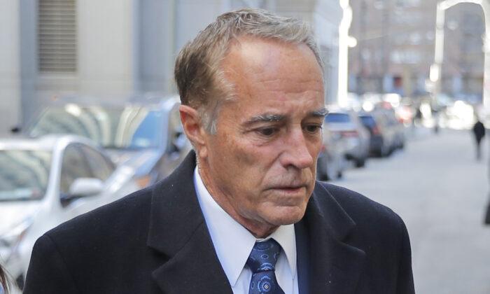 Former U.S. Rep. Chris Collins arrives at federal court for sentencing Friday, Jan. 17, 2020, in New York. (Seth Wenig/AP)
