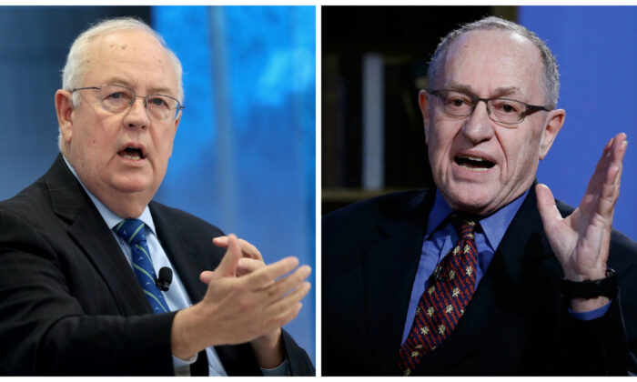 (L) Former independent counsel Ken Starr (Win McNamee/Getty Images) and (R) Attorney Alan Dershowitz, in file images. (John Lamparski/Getty Images for Hulu)