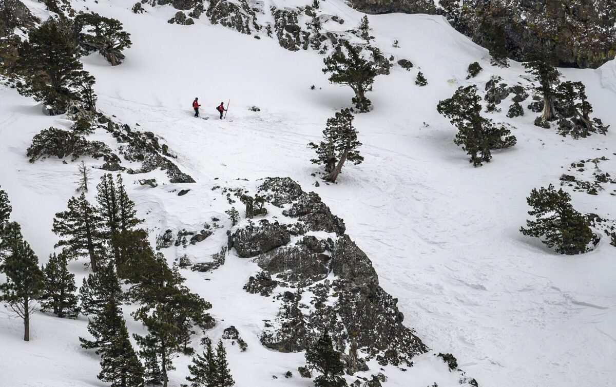ski patrol at avalanche zone