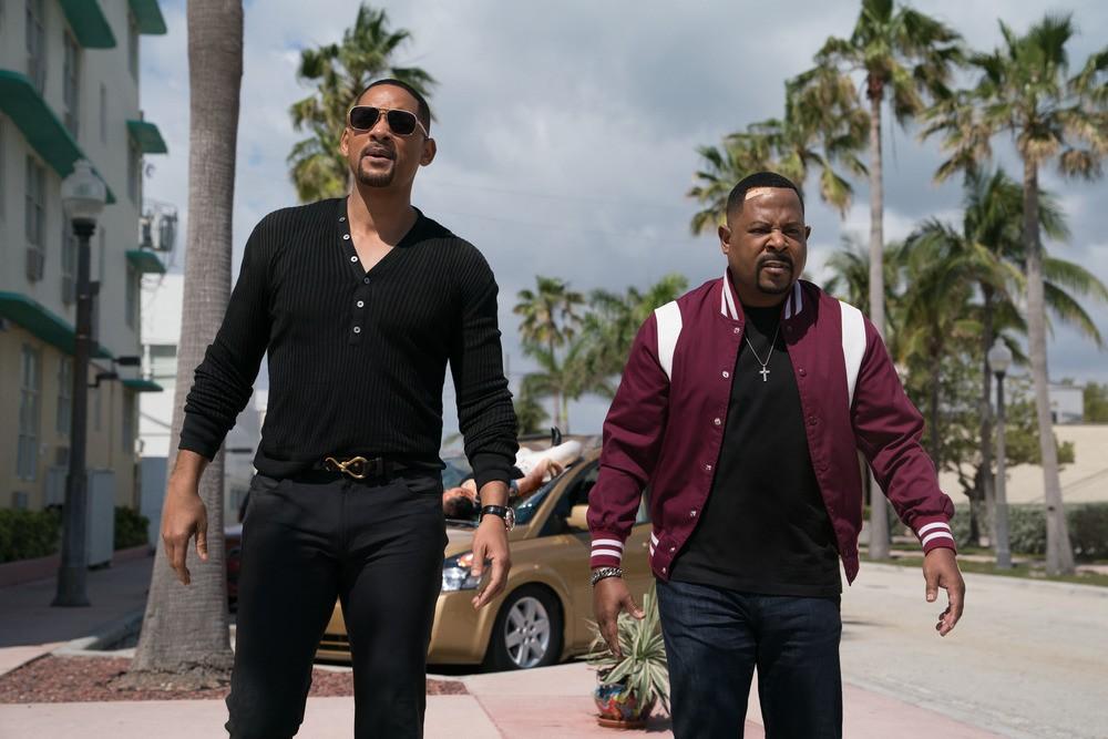 "two black men walking in street in ""Bad Boys For Life."""