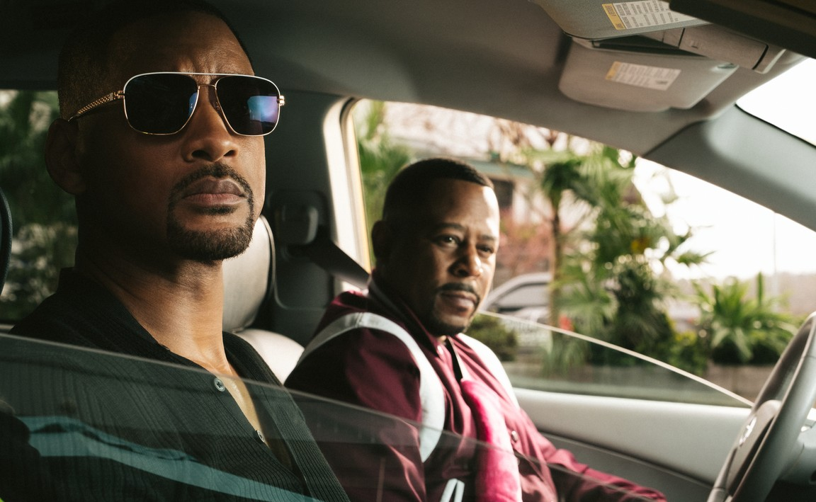 """two black men in a car in """"Bad Boys For Life."""""""