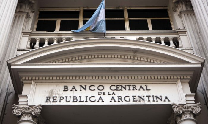 The Central Bank of Argentina in Buenos Aires, Argentina, on Aug. 20, 2019.  Ricardo Ceppi/Getty Images