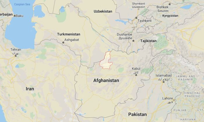 Jawed Bedar, a spokesman for Faryab province's governor, said the Taliban killed six members of one family in Faryab Province, seen above (Google Maps)