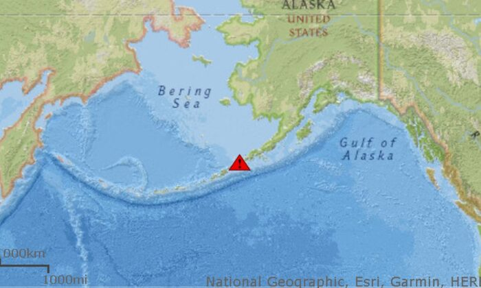U.S. officials have issued a red alert for the Shishaldin Volcano in Alaska following significant activity over the weekend. (Alaska Volcano Observatory)