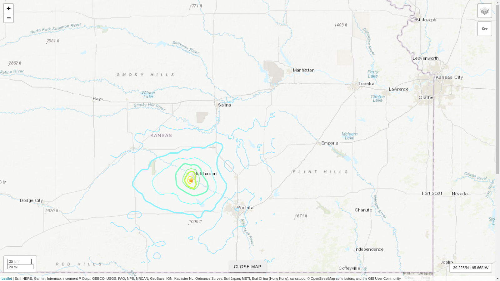 M4.5 Earthquake Hits Southern Kansas