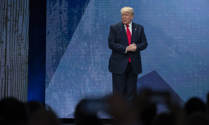President Donald Trump speaks at the American Farm Bureau Federation's (AFBF) annual convention at the Austin Convention Center on January 19, 2020 in Austin, Texas. (Callaghan O'Hare/Getty Images)
