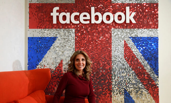Nicola Mendelsohn, Facebook's Vice-President for Europe, the Middle East, and Africa, sits for a portrait following a Reuters interview in London, England, on Jan. 20, 2020. (Toby Melville/Reuters)