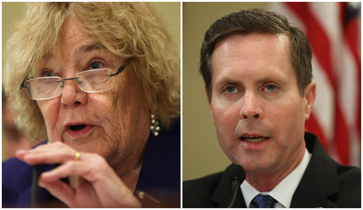 """(L) House Administration Committee chairperson Rep. Zoe Lofgren (D-Calif.) and (R) House Administration Committee ranking member Rep. Rodney Davis (R-Ill.)) speak during a hearing on """"2020 Election Security-Perspectives from Voting System Vendors and Experts."""" before the Committee on Jan. 9, 2020 on Capitol Hill in Washington, DC. (Alex Wong/Getty Images).(L) House Administration Committee chairperson Rep. Zoe Lofgren (D-Calif.) and (R) House Administration Committee ranking member Rep. Rodney Davis (R-Ill.)) speak during a hearing on """"2020 Election Security-Perspectives from Voting System Vendors and Experts."""" before the Committee on Jan. 9, 2020 on Capitol Hill in Washington, DC. (Alex Wong/Getty Images)."""