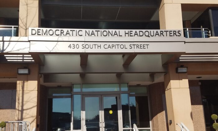 The Democratic National Committee HQ in Washington in January 2020. (Masooma Haq/The Epoch Times)