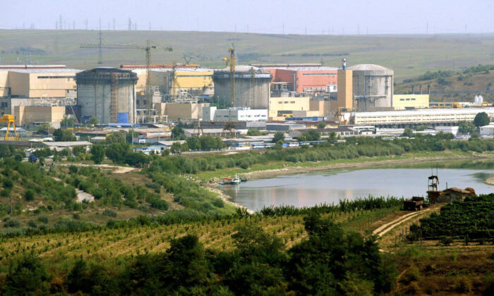 General view of the Cernavoda nuclear power plant, 200 km from Bucharest, taken Aug. 20, 2003. (Daniel Mihailescu/AFP via Getty Images)