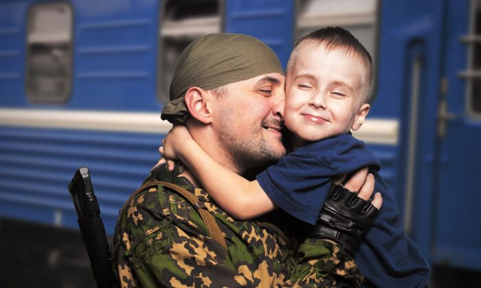 One soldier's journey to opening up began with a story about a gift from his son. (Petrenko Andriy/Shutterstock)