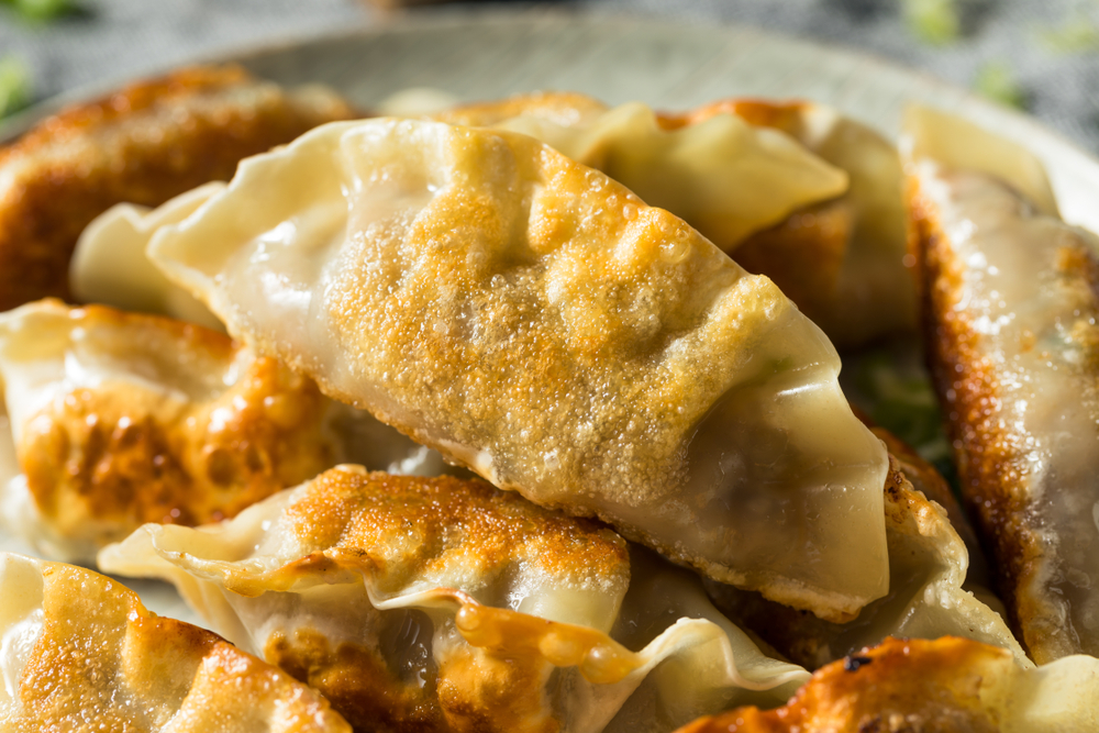 Homemade Korean Mandu Pork Dumplings Ready to Eat