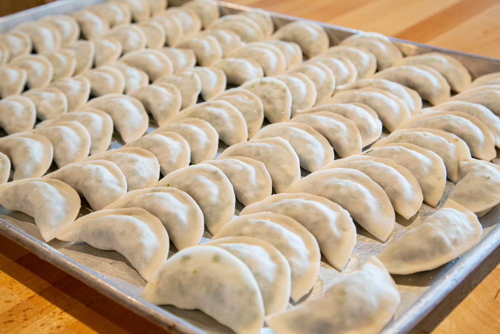 Korean style handmade pork dumplings