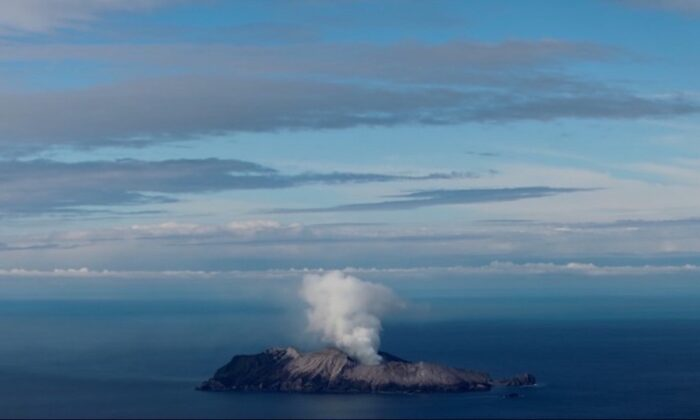 Whakaari, also known as White Island volcano, in New Zealand on Dec. 12, 2019. (Jorge Silva/Reuters)