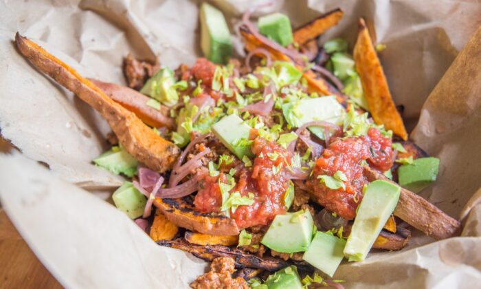 Load up your fries with all your favorite nacho toppings. (Caroline Chambers)