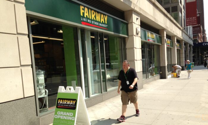 A photo of a Fairway in Chelsea New York City. It is opening on July 24, 2013 (Seth Holehouse/Epoch Times )