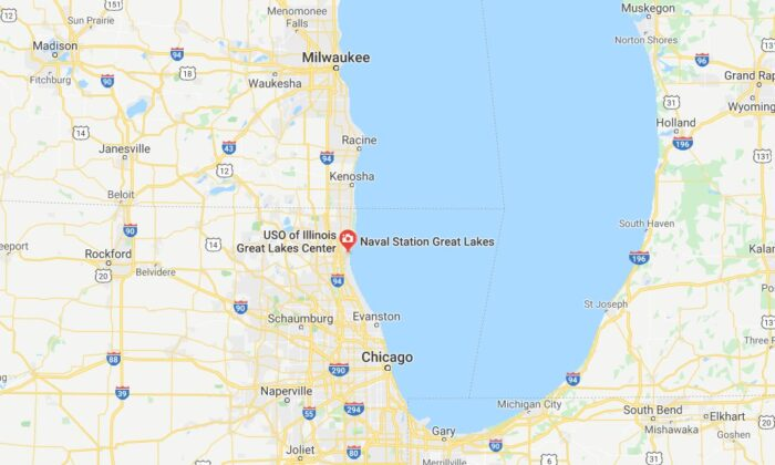 Naval Station Great Lakes confirmed on Friday morning that it has been placed on lockdown. (Google Maps)