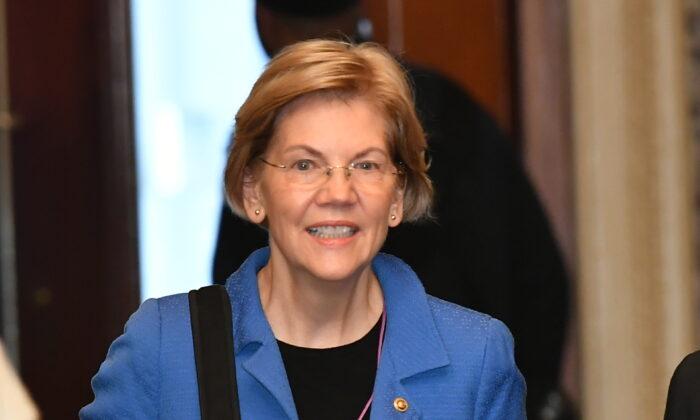 Sen. Elizabeth Warren (D-Mass.) arrives at the U.S. Capitol in Washington on Jan. 22, 2020. (Mandel Ngan/AFP via Getty Images)