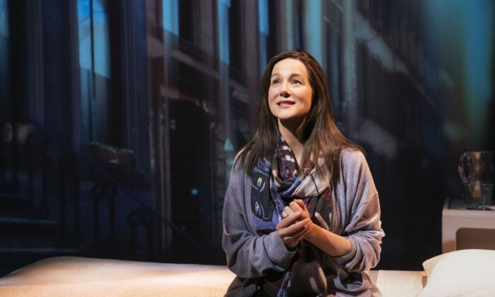 """Laura Linney in the one-person stage adaptation of Elizabeth Strout's novel, """"My Name is Lucy Barton."""" (Matthew Murphy)"""