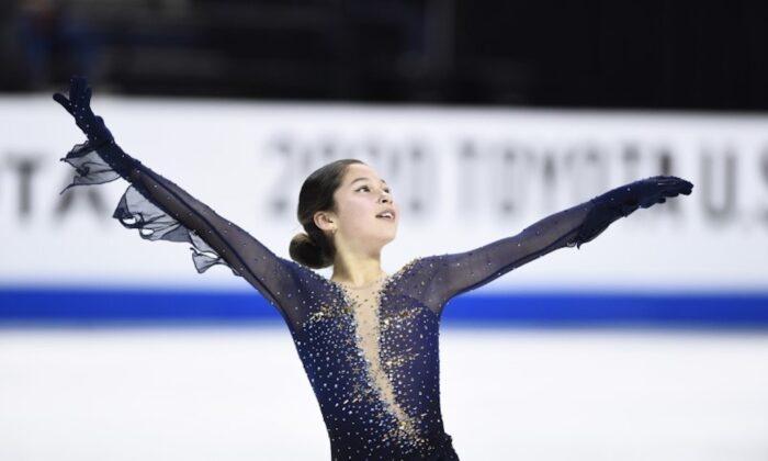 Alysa Liu performs during the Senior Ladies Free Skate at Greensboro Coliseum Complex in North Carolina on Jan 24, 2020. (Photo by Bob Donnan-USA TODAY Sports)