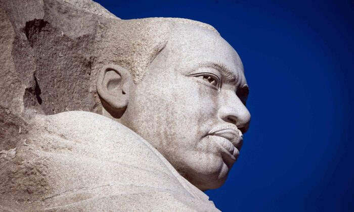 The Martin Luther King Jr. Memorial is seen on Martin Luther King Day in Washington on Jan. 21, 2019. (Al Drago/Getty Images)