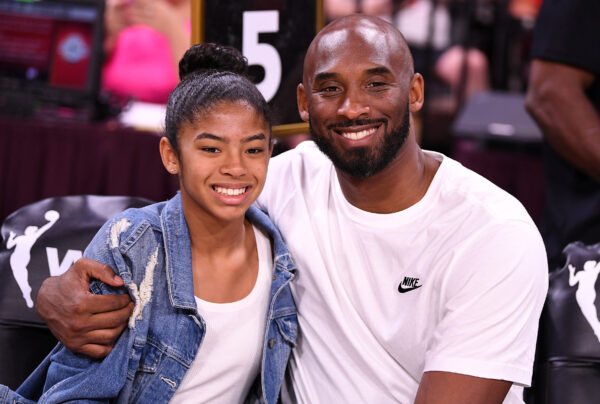 Kobe Bryant is pictured with his daughter Gianna