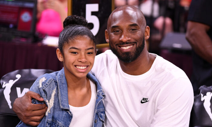 Kobe Bryant is pictured with his daughter Gianna at the WNBA All Star Game at Mandalay Bay Events Center, in Las Vegas, Nev., on Jul 27, 2019. (Stephen R. Sylvanie/USA TODAY Sports via Reuters)