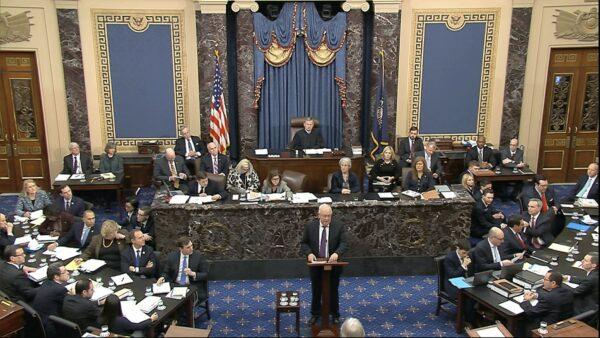 Ken Starr speaks in impeachment trial