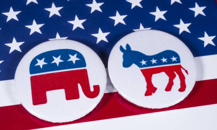 Research have consistently found overwhelming support for the Democratic Party over the Republican Party among college and university faculty. (Chris Dorney/Shutterstock)