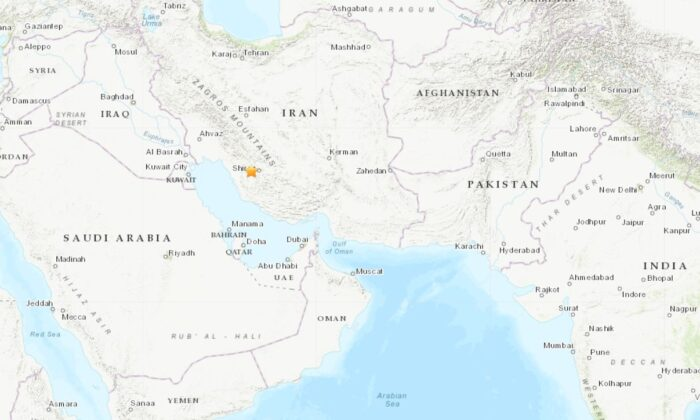A magnitude 5.1 quake struck Fars province in southern Iran on Jan. 27, 2020. Geological Survey (USGS).