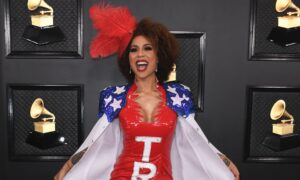 Joy Villa Wears 'Impeached And Reelected' Pro-Trump Dress To Grammys