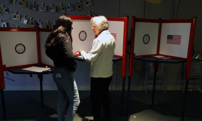 Residents cast votes at St. Paul Methodist Church in Louisville, Ky., on Nov. 5, 2019. (John Sommers II/Getty Images)