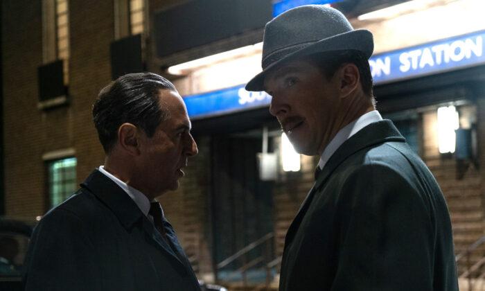 "Spies: Soviet Col. Penkovsky (Merab Ninidze)and British businessman Greville Wynne (Benedict Cumberbatch)in""Ironbark."" (Courtesy of the Sundance Film Festival)"