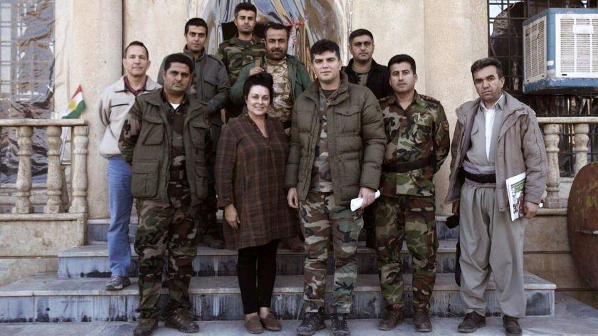 Kelly in Iraq with Kurdish Commander