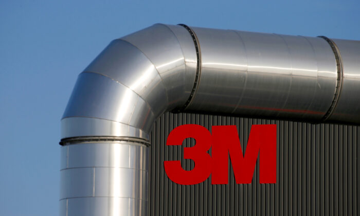 The logo of 3M is seen at the 3M Tilloy plant in Tilloy-Lez-Cambrai, France, on Aug. 18, 2019.(Reuters/Pascal Rossignol)