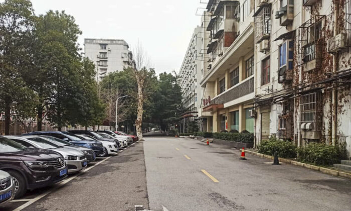 Dr. Khamis Hassan Bakari of Tanzania, shows an empty street in Wuhan, China on Jan. 27, 2020. Wuhan citizens are instructed to stay at home and avoid going to public places as much as possible. (Khamis Hassan Bakari via AP)