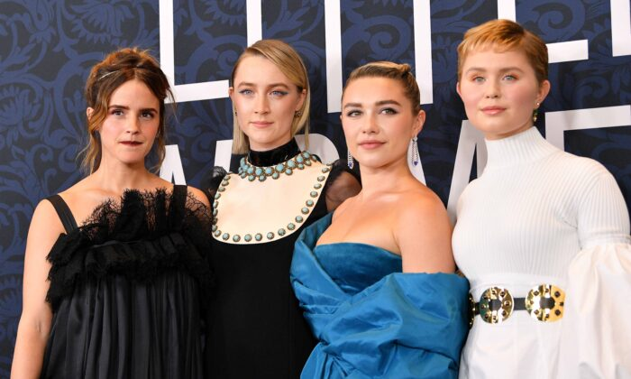 "Emma Watson, Saoirse Ronan, Florence Pugh, and Eliza Scanlen attend the ""Little Women"" World Premiere at Museum of Modern Art in New York City on Dec. 07, 2019. (Dia Dipasupil/Getty Images)"