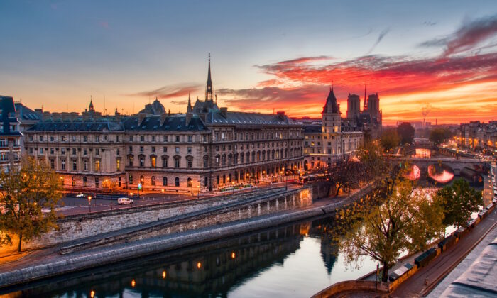 The Seine, and the Louvre, with Notre Dame in the distance. (Serge Ramelli/PhotoSerge.com)